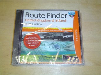 ROUTE FINDER UNITED KINGDOM & IRELAND TILL PC CD-ROM *NYTT*