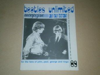 Beatles Unlimited #89 (Januari / Februari 1990) - Fint Skick!