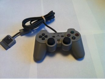 PS1/PSone: Original handkontroll/Gamepad Analog - Grå