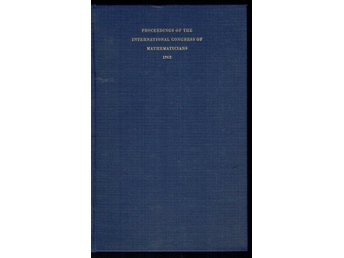 Proceedings of the International Congress of Mathematicians