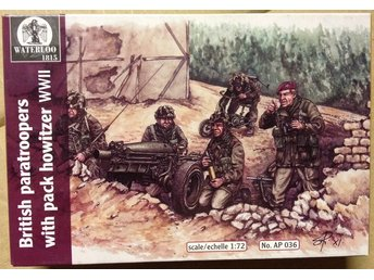 WWII BRITISH PARATROOPERS     Waterloo 1/72 Byggsats
