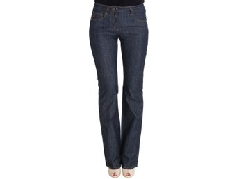 GF Ferre - Blue Cotton Denim Flare Boot Cut Jeans