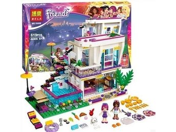 Pop Star House Building Blocks Kompatibel med Legoe figurer Toy