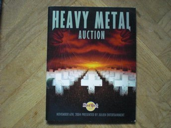 Heavy metal auction katalog 2004 Kiss Metallica Alice Cooper Guns N' Roses