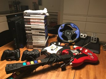 Playstation 2 - Det ultimata paketet - 25 spel, alla GTA, Guitar Hero, Singstar
