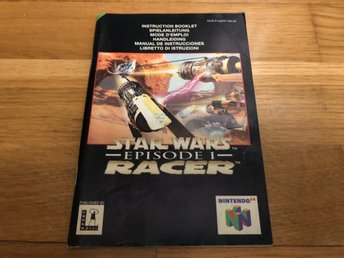 Star Wars Episode 1 Racer - Nintendo 64 manual