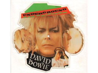 DAVID BOWIE - UNDERGROUND ( SHAPED PIC DISC) RARE! 7""