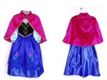 120- Frost Frozen Anna klänning peruk tiara handskar spö - Helsingborg - 120- Frost Frozen Anna klänning peruk tiara handskar spö - Helsingborg