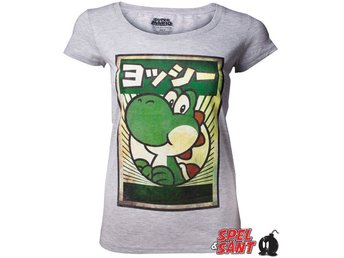 Nintendo Japanese Yoshi Tjej T-Shirt Grå (Medium)
