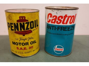 Pennzoil Motor Oil + Castrol Anti-Freeze. Båda oöppnade.