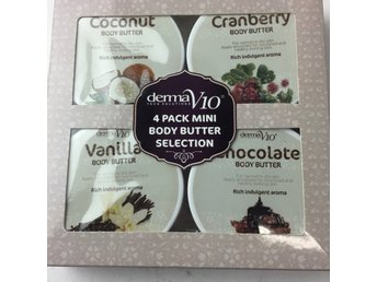 Derma Tech Solutions, Hudvård, 4 pack mini body butter selection