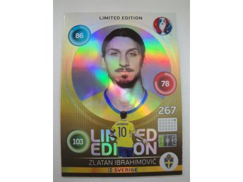 Panini Adrenalyn XL EURO 2016 - Limited Edition - ZLATAN IBRAHIMOVIC - Sverige