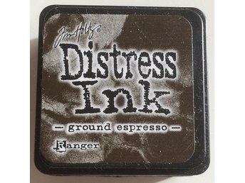 Tim Holtz Distress Ink Mini. Färg: Ground espresso. Mörkbrun