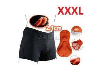 Cykelunderkläder Gel 3D Vadderade shorts Orange XXXL