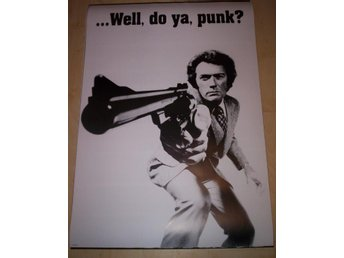 Clint Eastwood Dirty Harry (poster, affisch) do ya, punk?