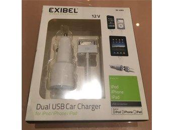 12 V laddare Lightning för iPodiPhoneiPad, Exibel | Clas