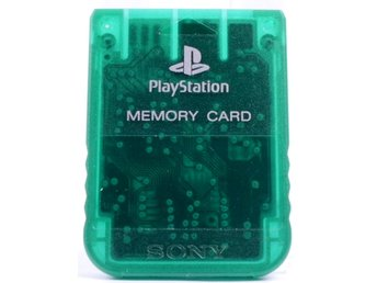 Playstation 1 Memory Card (Clear Green) -  - PAL (EU)