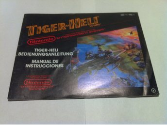 NES - Manualer: Tiger-Heli (Endast manual - Tysk)