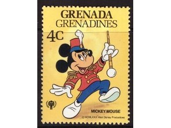 Disney, Grenada Grenadines, 4-cent Mickey Mouse
