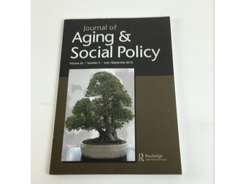 Bok, Journal of Aging & Social Policy, Taylor & Francis Group, Inbunden