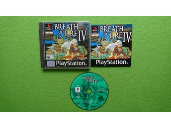 Breath of Fire IV KOMPLETT ENGELSK TEXT PS1 Playstation psone 4