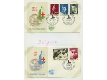 LOT T3616 / RED CROSS - RÖDA KORSET  / BELGIEN / TVÅ ILLUSTRERADE  BREV.