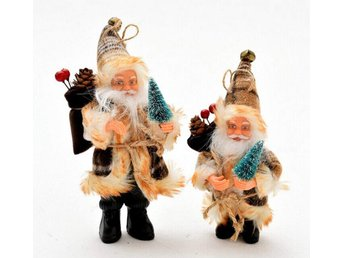 2pcs Christmas Scene Decorations Santa Claus Doll Standing Posture Ornaments