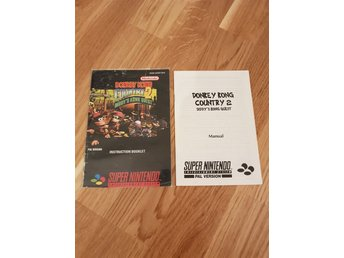Donkey Kong country 2 Diddy kong quest Manual