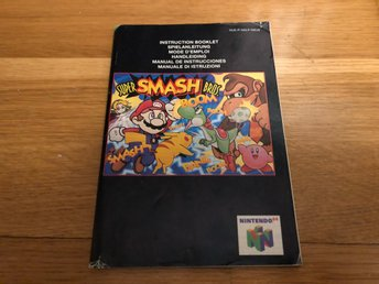 Super Smash Bros - Nintendo 64 manual