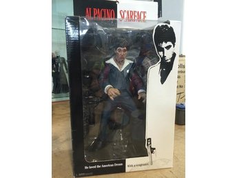 "Scarface / Tony Montana - ""The Enforcer"" - 9 inch - Mezco - Oöppnad"