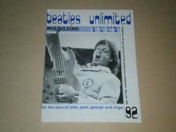 Beatles Unlimited #92 (September / Oktober 1990) - Fint Skick!