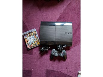 Playstation 3 + 1spel (gta5) + 1 kontroll 320 GB HD