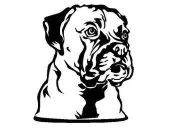 Boxer Dekal Svart (Hund - Finspång - Boxer Dekal Svart (Hund - Finspång