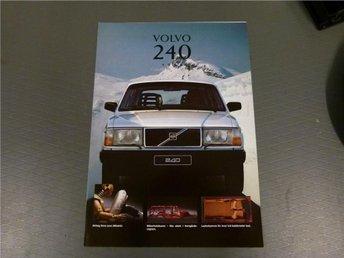 Volvo broschyr: Volvo 240 - 1993 - Norrtälje - Volvo broschyr: Volvo 240 - 1993 - Norrtälje
