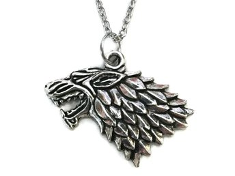 Halsband House Stark Game Of Thrones Wolf Varg Halsband Kedja - 50 cm