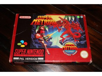 SNES - Super Metroid (Big Box) (Incl Players Guide) (Beg)