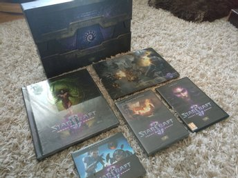 Starcraft 2 Heart of the Swarm collectors edition - komplett