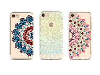 3x Skal iPhone 7 plus  med henna mönster . Henna case ..fordal