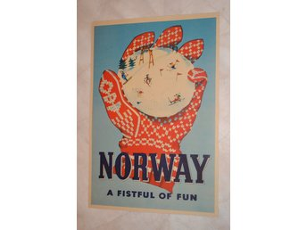 Norway a Fistful of Fun (Norge Reklam Resa) Poster Affisch 30*42cm Ny