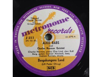Alice Babs med Charles Norman Quintet. Metronome J211.