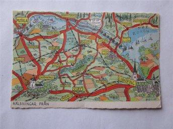 BertilA kartkort nr 49, Motala - Linköping - Segeltorp - BertilA kartkort nr 49, Motala - Linköping - Segeltorp