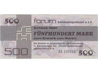 T-0144. DDR FORUM 500 MK 1979 P-FX7 UNC AA731021 - Jakobstad - T-0144. DDR FORUM 500 MK 1979 P-FX7 UNC AA731021 - Jakobstad