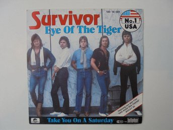 VINYLSINGEL. SURVIVOR . EYE OF THE TIGER / TAKE YOU ON A SATURDAY