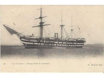 "French  Ship School Gunners "" COURONNE """