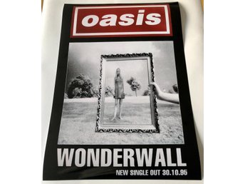 OASIS WONDERWALL 1995 PHOTO POSTER