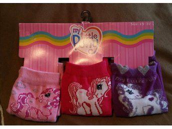 3 Par My Little Pony Strumpor Sockar Stl. 19-22
