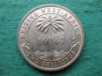 British West Africa 2 shillings 1947
