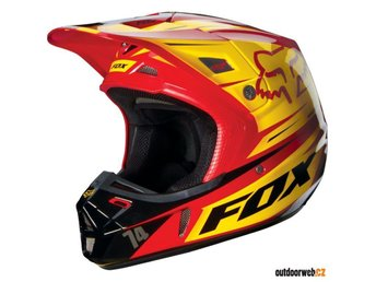 FOX V2 SKOTER CROSS MX HJÄLM #small **REA -40%**
