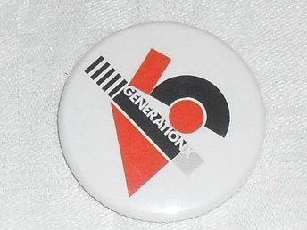 GENERATION X -Pin / Badge 4,5 cm (1977 Punk, Billy Idol, Chelsea,)