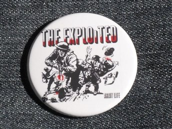 EXPLOITED - 4,5 cm - Army Life - Pin / Knapp / Badge (1980, Oi, GBH, Discharge,)